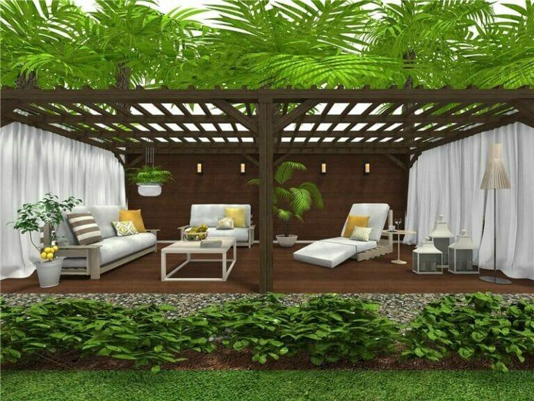 Modern floor plan with veranda