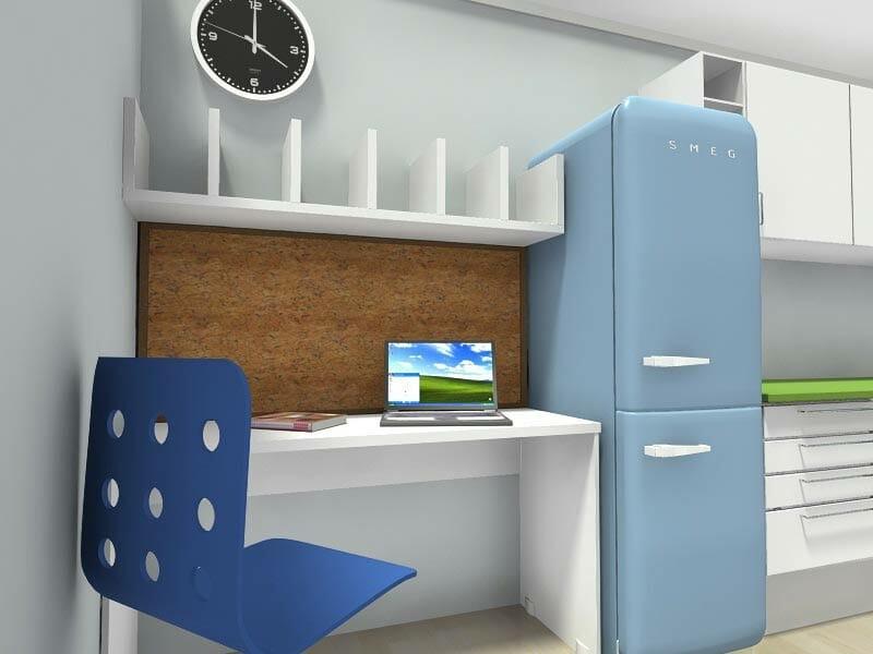RoomSketcher-Home-Office-Modern-In-Kitchen-Desk-Design