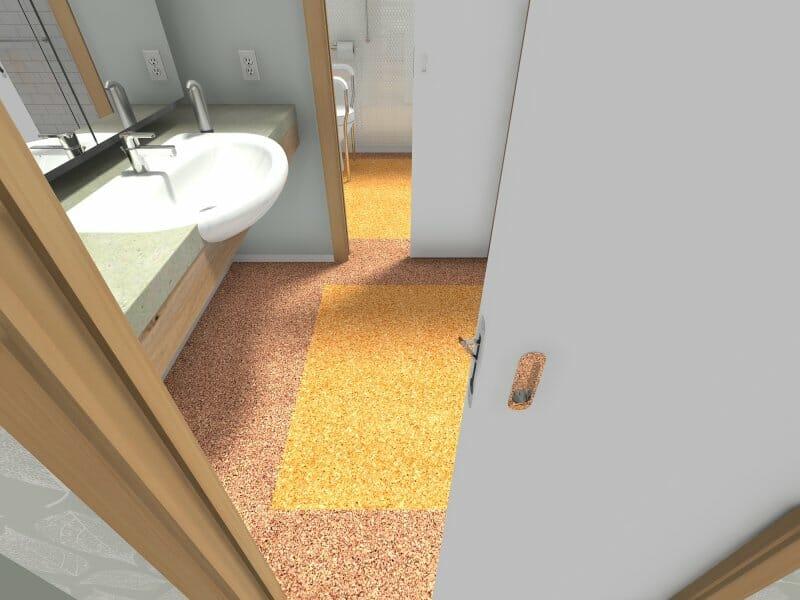 flat cork flooring