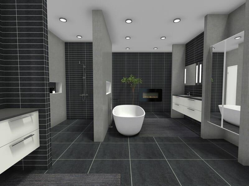 Contemporary bathroom style