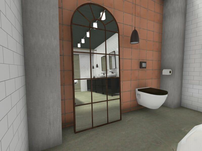 Industrial bathroom style