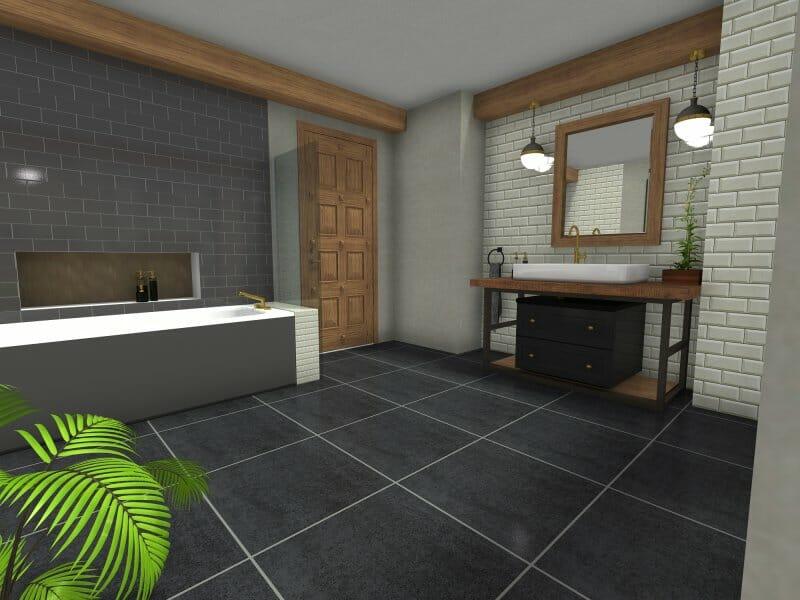 Industrial bathroom 3D