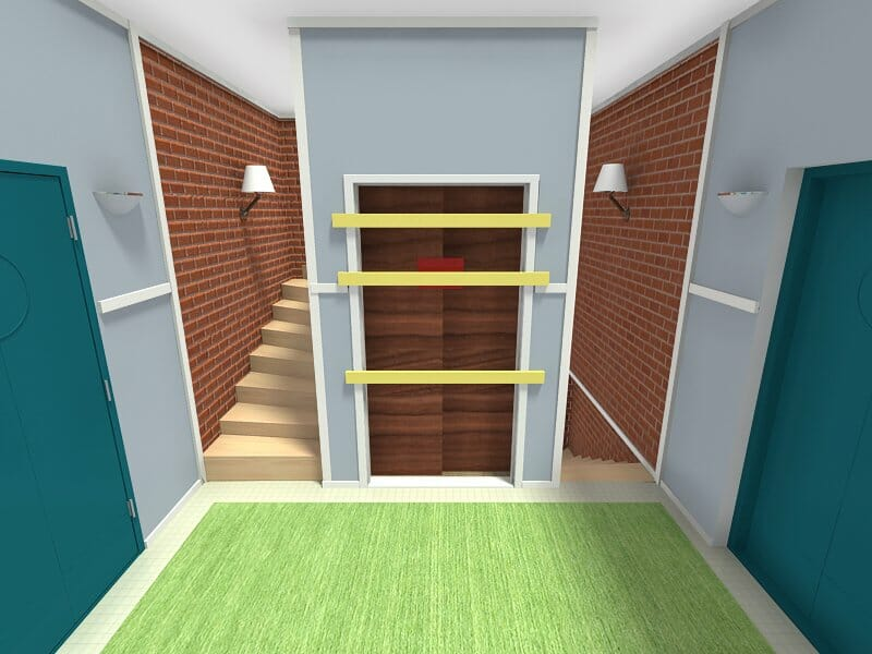Big Bang Theory hallway