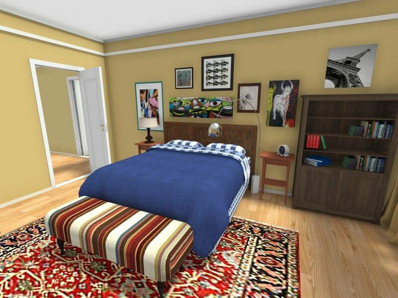 Leonard's BBT bedroom