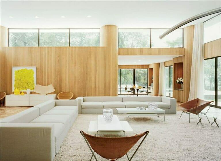 Modern house plan with clerestory windows