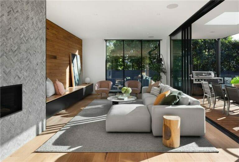 Modern house with sliding doors